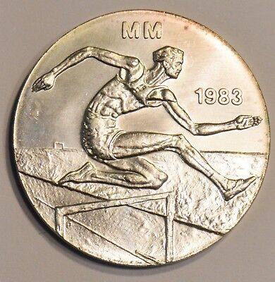 Finland Silver 1983 Athletic Championships 50 Markkaa KM# 61 w/mint pack & COA