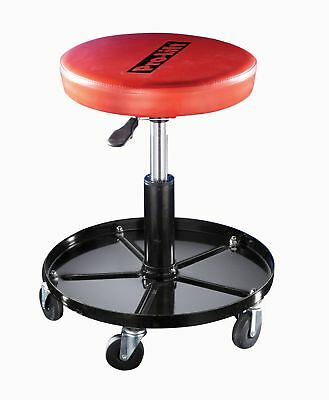 Adjustable Rolling Mechanic Stool Seat Chair Garage Workshop Creeper for Adults