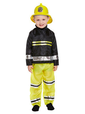 Boys Fireman Sam Fire Fighter Fancy Dress Up Costume Kids Outfit Book Week Party