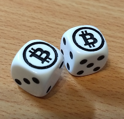 Pair of 16mm Bitcoin dice