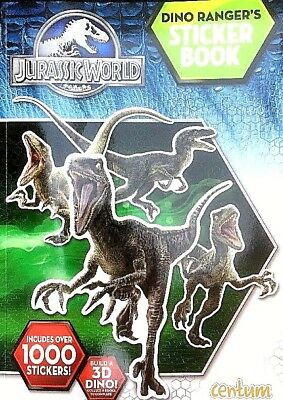 Jurassic World Dino Ranger's Sticker Book Includes Over 1000 Stickers Paperback