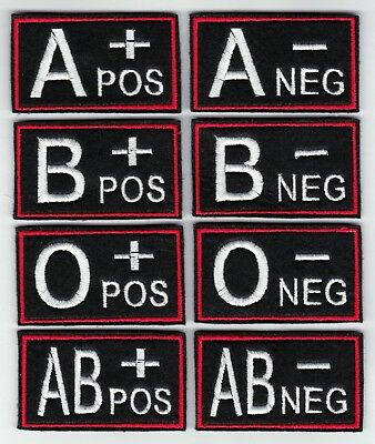 Blood Type Group Patch - Sew On Or Iron Felt Patch Biker Triker Scooter