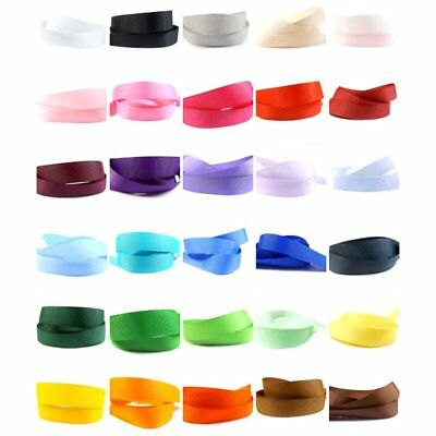 """Grosgrain Ribbon 25mm (1"""" inch) - 35 Plain Coloured Double Sided/Faced Large"""
