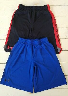 Under Armour Boy's Loose Active Shorts Size Youth Medium Lot of 2