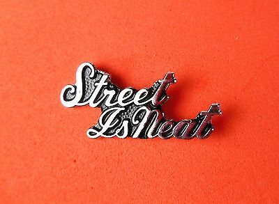Street Is Neat Cursive Hat Lapel Pin Tie Tac Tack Gift