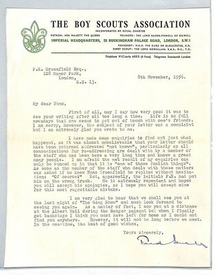 BS202 1956 GB The Boy Scouts Association London Letter PTS