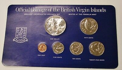 British Virgin Islands - 1975 - 6-coin Uncirculated Specimen Set - Sealed