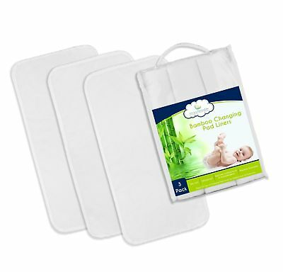 Best NON-SLIDE Bamboo Changing Pad Liners - 3-Pack, Thicker & Highest Quality...