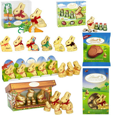 Lindt Easter Egg Gold Bunny Figures Family Hutch Carrot