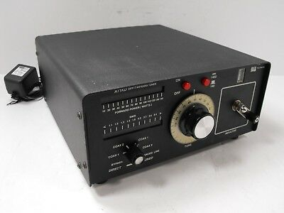 Palstar AT1KD Roller Inductor Ham Antenna Tuner 1400W w/ AC Adapter SN 01101