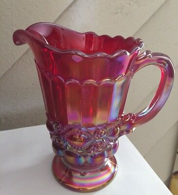 Mosser Glass  Red Eye Winker Pitcher New condition in box