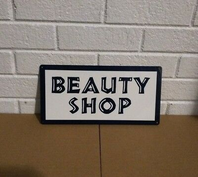 Beauty Shop Advertising Retro Metal Sign 6x12 Barber Salon S60