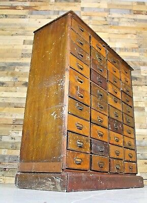Vintage Antique Large 20th Century Haberdashery Cabinet With 40 Drawers