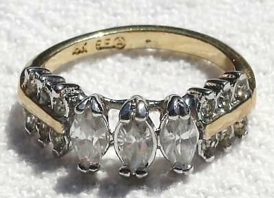 Vintage Ana BeKoach 18KT GE A Gold Women's Cubic Zirconia Ring 6 to 6.5 No Tax