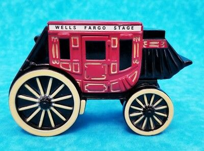 Wells Fargo Bank & Union Trust Co. Stage Coach Coin Bank 1998 Die Cast Iron