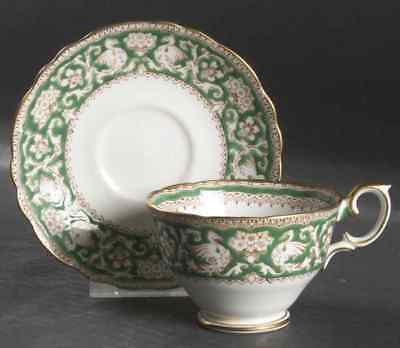 Crown Staffordshire ELLESMERE GREEN Cup & Saucer 4322404
