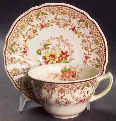 Royal Doulton THE GLENDALE-BROWN-MULTICOLOR Cup & Saucer 555949