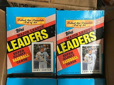 2 Box Lot 1986 Topps Mini Baseball Cards League Leaders 36 Packs Per Gary Carter