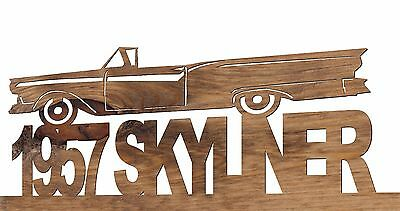 1957 Ford Skyliner Convertible Handmade Wooden Decorative Plaque