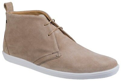 Base Roadie Mens Leather Desert Boots Taupe UK SIZES