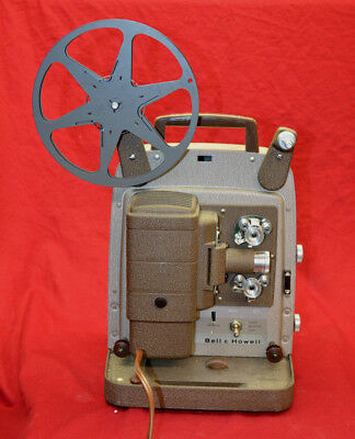1950's Vintage Bell & Howell 8Mm Film Projector  253Ax Tested Works Excellent