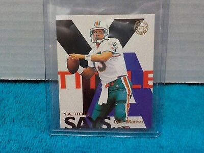 1997 Fleer Goudey Y.A.Tittle Says Dan Marino #13/20 NM-MT  HOFer