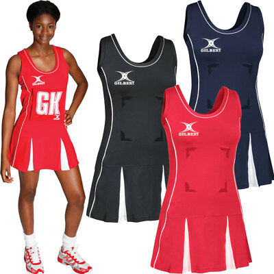 gilbert elite netball dress red black navy white x small small large new sports