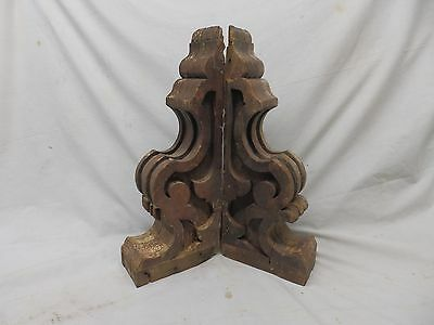Antique Pr Wood Corbels Brackets Victorian Gingerbread Shabby Old Chic 450-17P