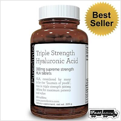 . 12 Months Supply Triple Strength Hyaluronic Acid 300mg Tablets 720 Tablets