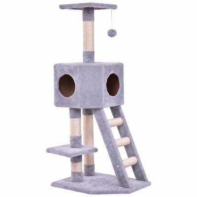 Pet Furniture Cat Tree Kitten Play House Tower Condo Scratch Post Ladder Stand