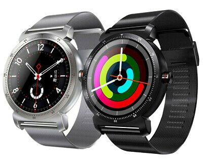 Smartwatch Edelstahl Bluetooth iOS Android Samsung Huawei Sony Wiko