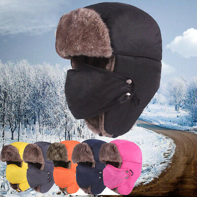 87294bb8eb5 Unisex Men Women Winter Trapper Aviator Trooper Earflap Warm Ski Hat With  Mask