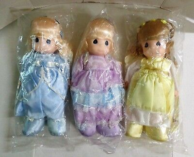 Precious Moments Songs of the Spirit Faith Charity Hope Doll Lot of 3 1994 New