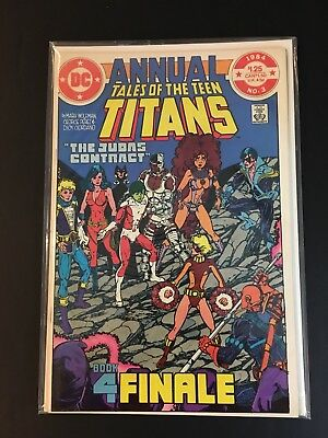 Tales Of The Teen Titans Annual #3 1984 DC Comics. F/VF Judas Contract