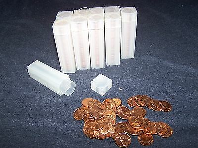 1965 Uncirculated Lincoln Cent Roll - Lincoln Pennies in plastic tubes (4)