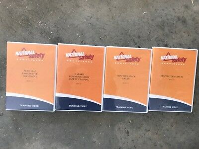 Package of Four (4) National Safety Compliance DVD Video Training Kits