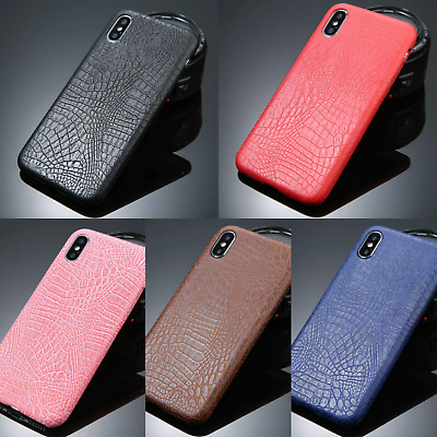 Luxury Soft TPU Silicone CrocodileTexture Shockproof Leather Case Cover iPhone X