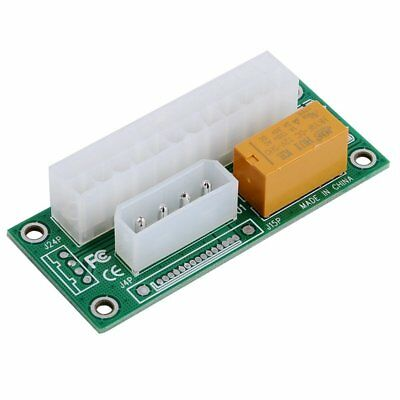 Dual Computer Power Supply Relay Link Board 24Pin ADD2PSU Adapter Connector PC