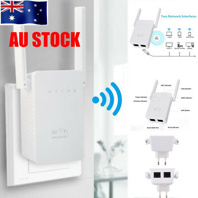 AU Plug High-speed 300Mbps Wireless Wifi Repeater Range Router Booster Extender