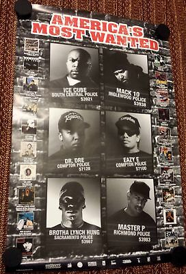 Rap Promo Poster - America's Most Wanted - Ice Cube - Brotha Lynch Hung DR DRE
