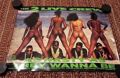 Rap Promo Poster - 2 Live Crew - As Nasty As they Wanna Be LUKE SKYYWALKER EX+