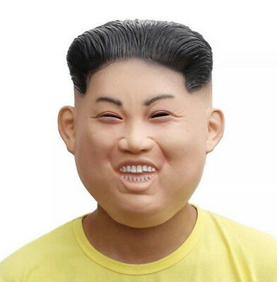 PartyCostume Latex Hunam face Mask Funny Kim Jong Un environmental and non-toxic