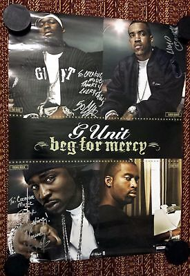 Rap Promo Poster - G-Unit - Beg For Mercy G-UNIT Signed By 50 CENT Lloyd Banks