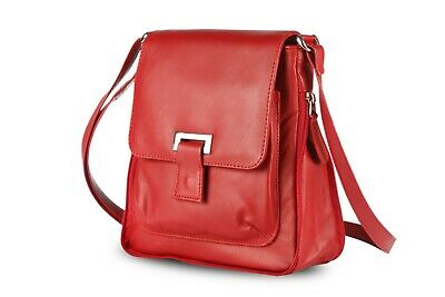 New Women Ladies Real Leather Messenger Cross Body Shoulder Bag Black Brown Red