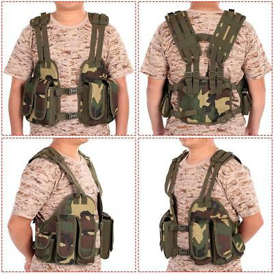 Outdoor Tactical Chest Rig Adjustable Padded Modular Military Vest Mag V2J9