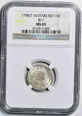 1798/7 Draped Bust 10C Ngc Ms 65