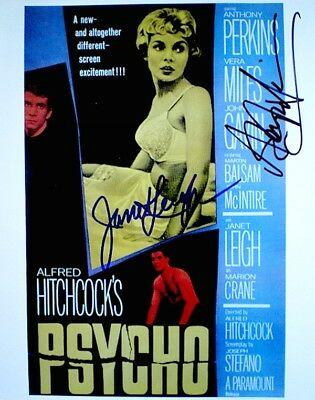 Psycho Hand Signed Autographs Janet Leigh Anthony Perkins Photo Poster Promo COA