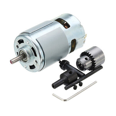 775 Motor DC 12-24V Electric Drill with JTO Drill Chuck for Polishing Drill