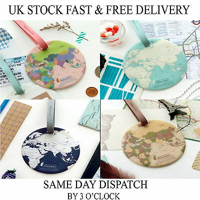 World Map Luggage Suitcase Holiday Tags Bag Travel Tags UK stock Vincenza