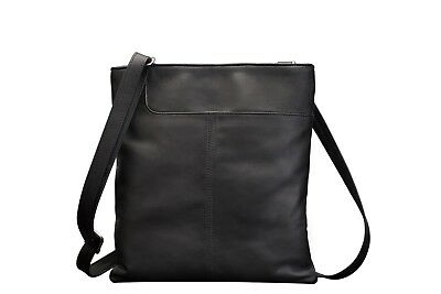 Real Leather Shoulder Soft Ladies Gents Cross Body Bag Black Brown Red Women New